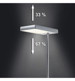 Stehlampe LED Maxlight - Silber