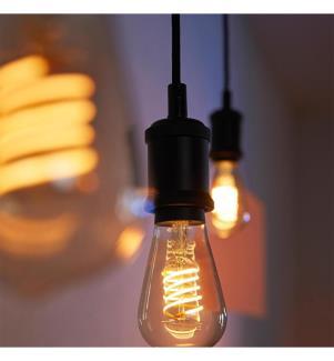 PHILIPS HUE - Filament White Edison, Glühbirne (Einzelstück) ST64 E27