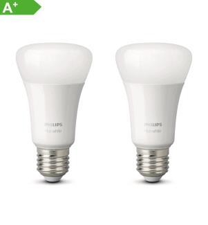 PHILIPS HUE - White, Glühbirne (2er-Packs) E27
