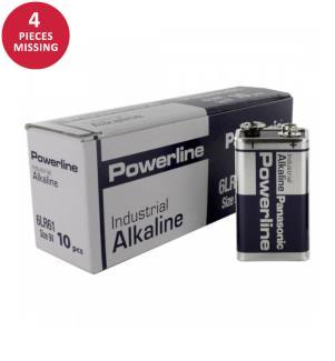Panasonic Batterien Powerline 10x 6LR61 (9V Block)