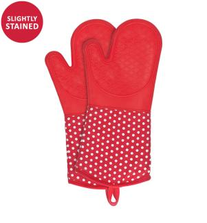 WENKO - Topfhandschuhe Silikon Rot, 1 Paar