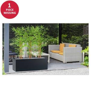 2er-Set Künstliche Pflanzen Bambou 150 cm - Dunkelgrün und Schwarz