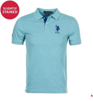 Poloshirt Big Logo - Hellblau