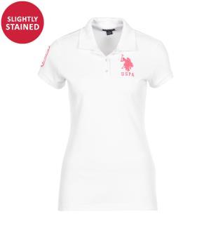 Poloshirt Big Logo - Weiss