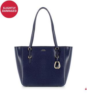 Leder-Shoppingtasche Bennington Shopper Saffiano - Marinblau
