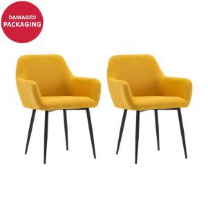 2er-Set Stühle - Dunkelgelb und Schwarz